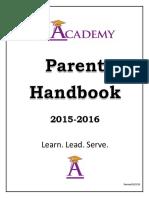 The Academy Charter School Parent Handbook 2015 2016