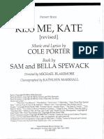 Kiss Me, Kate Script