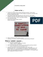 ARTivism - Pointers for Discussion [Hanafive Art - SORGE - Curpol]