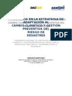 1. Ministro Gerson Martinez - Avances en La Estrategia de Adaptación Al Cambio