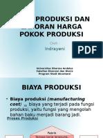 3. Biaya produksi