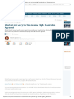 Market Not Very Far From New High