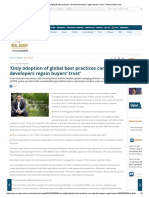 Only Adoption of Global Best Practices Can Help Developers Regain Buyers Trust