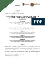 Analyzing Employability Competency- Impact of Quadruple Helix Model to Prospective Graduates