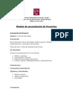 Modelo de Presentacion Del Proyecto