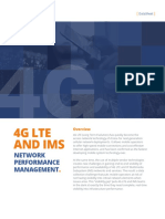 4g Lte and Ims Network Performance Management