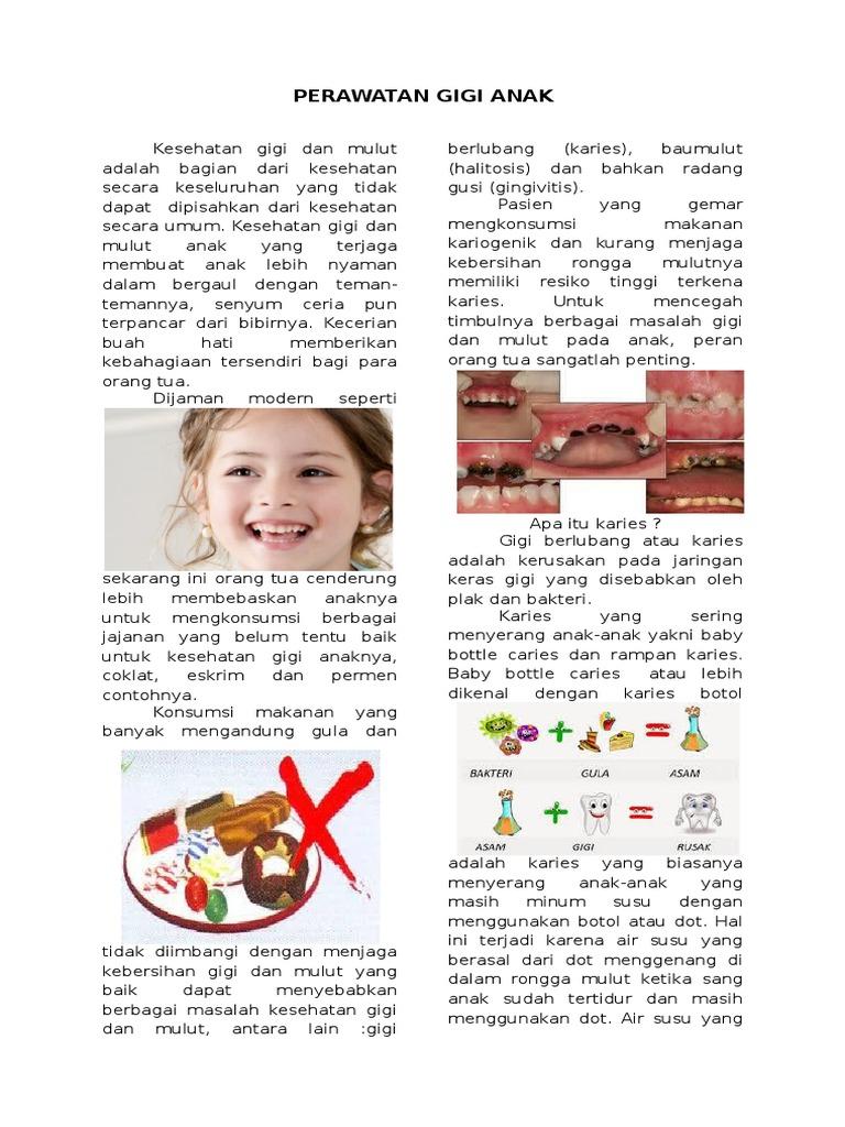 Perawatan Gigi Anak Majalah 97 2003 Doc