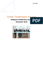 Veridic Technologies Pvt Ltd Employee Survey Report for Team