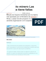 Proyecto Minero Las Bambas Tiene Fallas