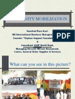 Community Mobilization by Naushad Kazi -MA International Business Management, UK