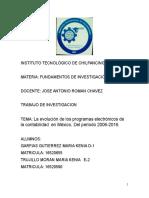 La evolución de los programas electrónicos de la contabilidad  en México