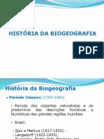 Histórico Da Biogeografia