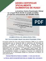 Certificacion Oficial Lengua Rusa