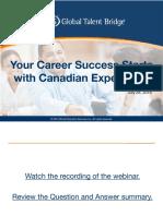 Canadian Experience Webinar SlideDeck 2016-08-12