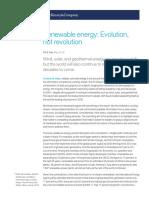 1 Renewable Energy Evolution Not Revolution