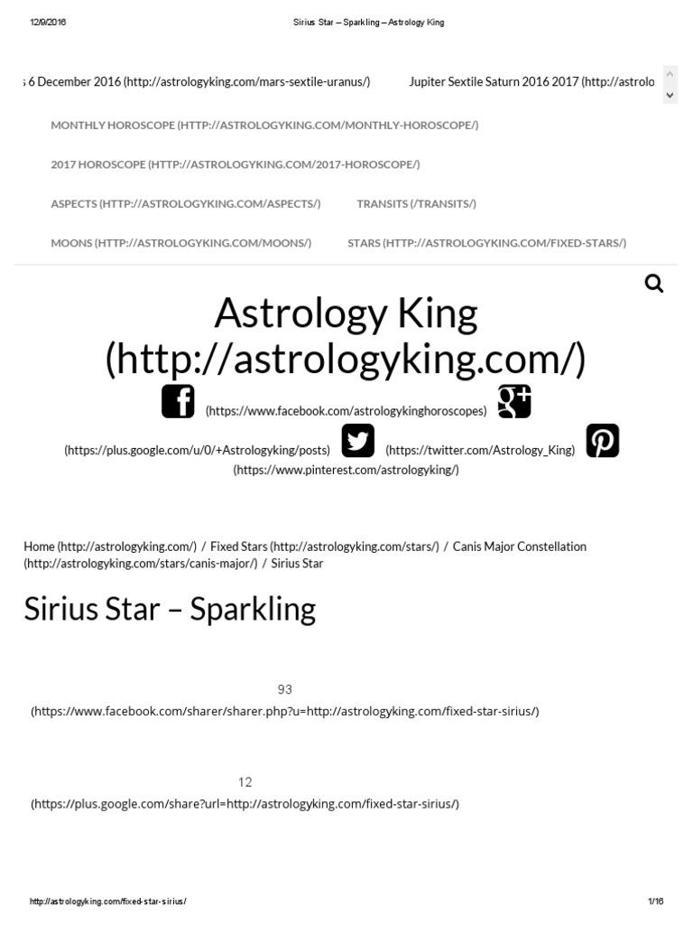 King Stars | Horoscope | Divination
