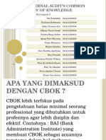 Internal Audit's Common Body of Knowledge
