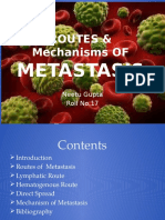 Routes & Mechanisms of Metastasis