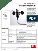 NRG 40C Anemometer Data Sheet