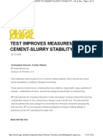OGJ - Test Improves Measurement of Cement Slurry Stability