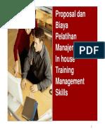 Proposal Biaya Sampel Materi Pelatihan