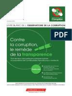 Contre la corruption, le remède de la transparence