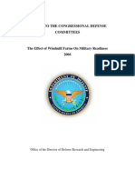 The Effect of Windmill Farms on Military Readiness 2006