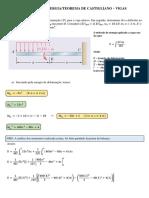 Exemplo Resolvido - Teorema de Castigliano
