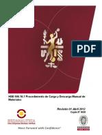 HSE 006.16.7 Procedimiento de Carga y Descarga Manual de Materiales