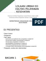 Pengelolaan Limbah b3 Dari Fasyankes-permen Lhk P-56-2015