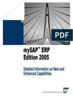 MySAP ERP 05 - Detailed Information on New and Enhanced Capabilities