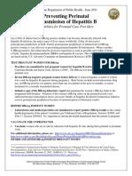 Report a Case of Perinatal Hepatitis B