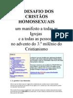 O DESAFIO DOS CRISTÃOS HOMOSSEXUAIS