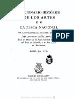 Diccionario historico de los artes de pesca nacional - Antonio Sáñez Reguard. Volumen 5.PDF