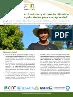 La Agriculture de Honduras y El Cambio Climatico
