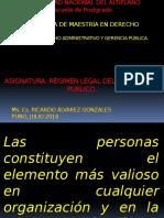 Règimen Legal Del Servidor Pùblico Maestría- Una - 2016