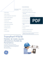 Medidor Vazao Ultrassonico Pt 878 Portugues