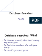 Database Searches FASTA