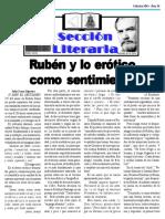 Rubén y lo erótico como sentimiento