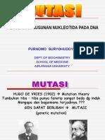 BM 5-7 - Mutasi, Mutagenesis, Perbaikan Sel (Prof Indri)