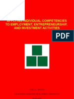 Applying Individual Competencies to Employment, Entrepreneurship, and Investment Activities