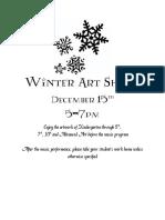 winter art show 2016