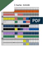 Horário Das Provas Finais - 19 à 23.12.16