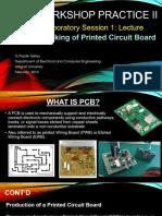 Lab Session I-Fabrication of PCB