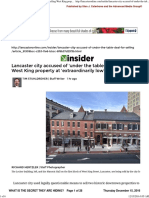 ANOTHER LANCASTER COVER-UP THE SALE OF THE MASONIC HALL IN THE CITY OF LANCASTER, by The Advanced Media Group,  December 15, 2016