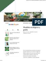 Muebles Ecológicos y Gratis - Ecocosas