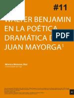 Walter Benjamin Por Juan Mayorga