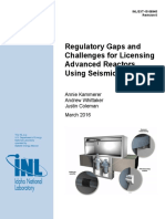 Regulatory Gaps and  Challenges for Licensing  Advanced Reactors  Using Seismic Isolation