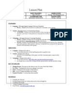 Lesson Plan the Writing Process Editing Spelling