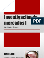 Desarrollo de Unidad I - Investigación de Mercados I